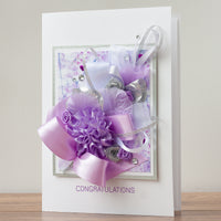 Luxury Boxed Wedding Card 'Congratulations'