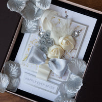 Luxury Boxed Wedding Card 'Happily Ever After'