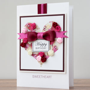 Luxury Boxed Birthday Card 'Sweetheart'
