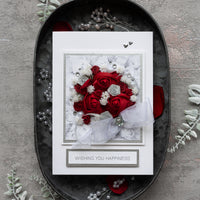 Luxury Boxed Wedding Card 'Classic Bridal Bouquet'
