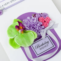Luxury Boxed Birthday Card 'Lilac Posy'