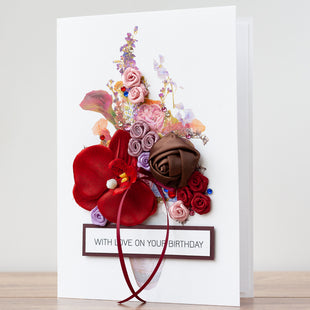 Luxury Boxed Birthday Card 'Vintage Bouquet'