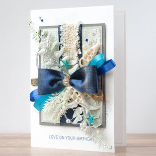 Luxury Boxed Birthday Card 'Ocean Song'