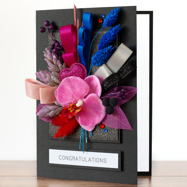 Luxury Boxed Birthday Card 'Modern Bouquet'