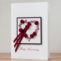 Luxury Boxed 40th Anniversary Card 'Ruby Anniversary'