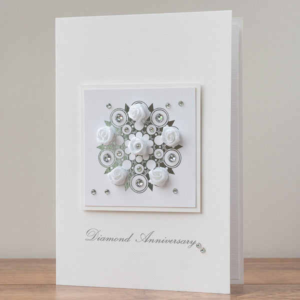 Luxury Boxed Anniversary Card 'Diamond Anniversary'