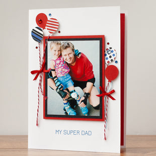 Photo Father's Day Card  'Our Super Dad'