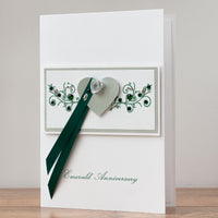 Luxury Boxed Anniversary Card 'Emerald Anniversary'