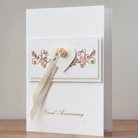 Luxury Boxed Anniversary Card 'Coral Anniversary'