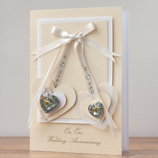 Luxury Boxed Anniversary Card 'On Our Wedding Anniversary'