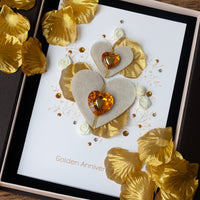 Luxury Boxed Anniversary Card 'Golden Wishes'