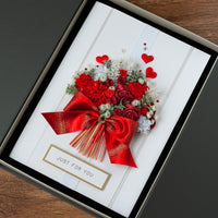 A4 Luxury Boxed Handmade Card 'Just For You'