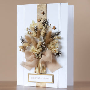 A4 Luxury Boxed Birthday Card 'Rustic Meadow Bouquet '