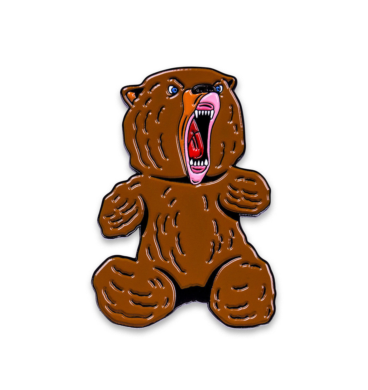 "Teddy bear or Grizzly Bear 2"" Enamel Pin"