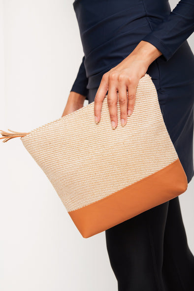 Beige Tan Panel Wet Bag