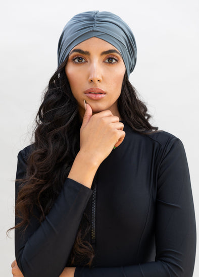 Swim Turban - Grey