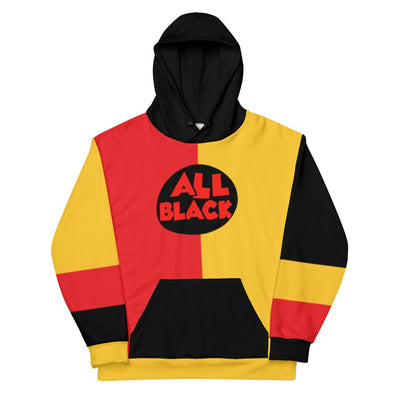 90s All Black Colorblock Unisex Hoodie - Royal Blakk