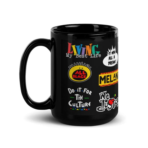 90s Black Mug - Printed Black Coffee Mug | Royal Blakk