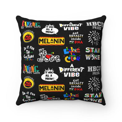 Black Pillow & Cushion - 90s Black Pillow | Royal Blakk