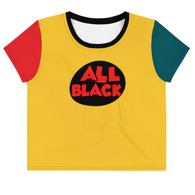 Crop Tee - Colorblock T-Shirt | Royal Blakk