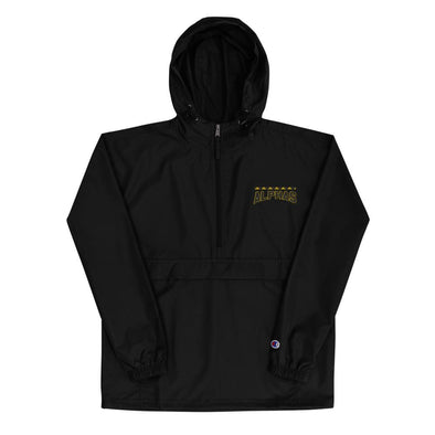 Alphas Embroidered Champion Packable Jacket - Royal Blakk