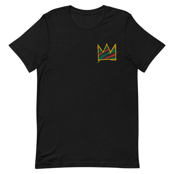 Basquiat Crown Embroidered Short-Sleeve Unisex T-Shirt - Royal Blakk