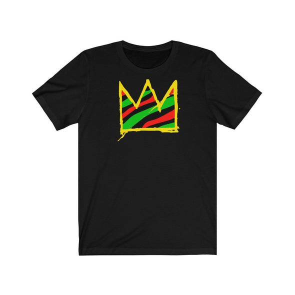 'Basquiat Crown' Unisex T-Shirt - Royal Blakk