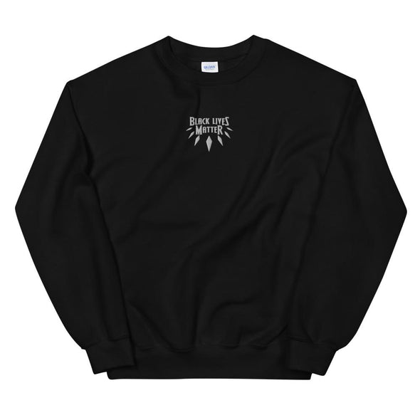 """Black Lives Matter' Centered Embroidered Unisex Sweatshirt - Royal Blakk"