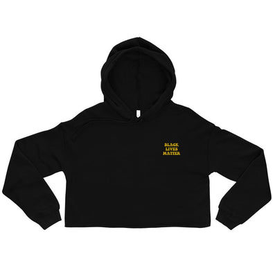 'Black Lives Matter' Crop Hoodie - Royal Blakk