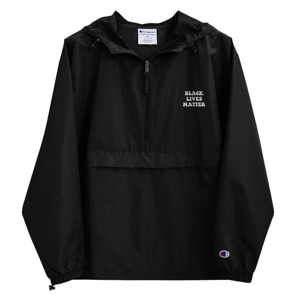 Black Lives Matter Embroidered Champion Packable Jacket - Royal Blakk