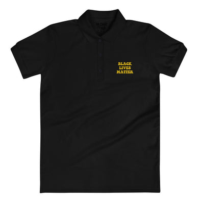 'Black Lives Matter' Embroidered Women's Polo Shirt - Royal Blakk