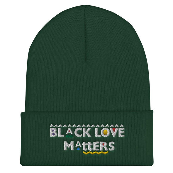 Black Love Matters Embroidered Cuffed Beanie - Royal Blakk