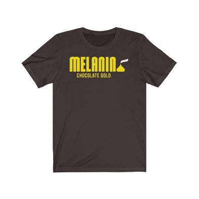 'Melanin Chocolate Gold' Unisex T-Shirt - Royal Blakk