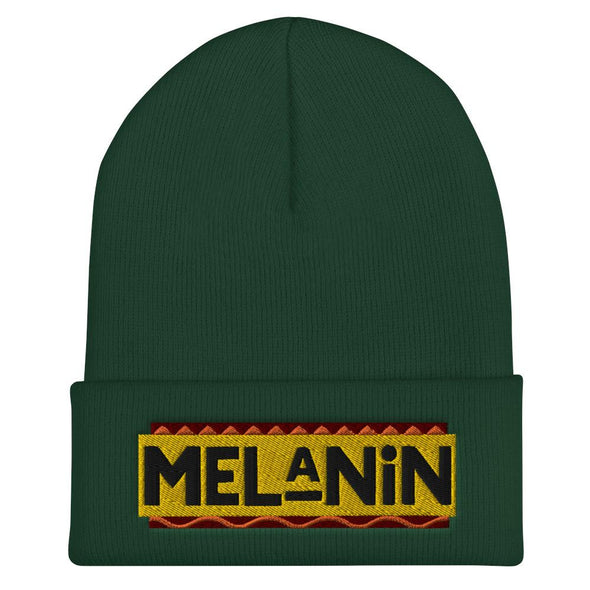 'Melanin' Cuffed Beanie (Gold) - Royal Blakk