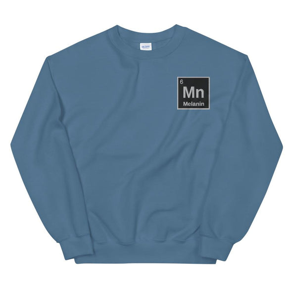 'Melanin Element' Embroidered Unisex Sweatshirt - Royal Blakk