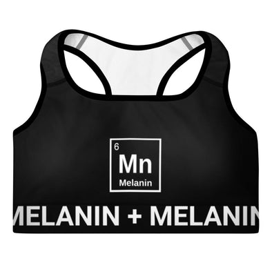 Melanin Element Padded Sports Bra - Royal Blakk