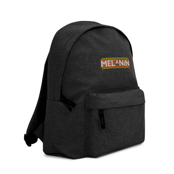 'Melanin' Embroidered Backpack - Royal Blakk