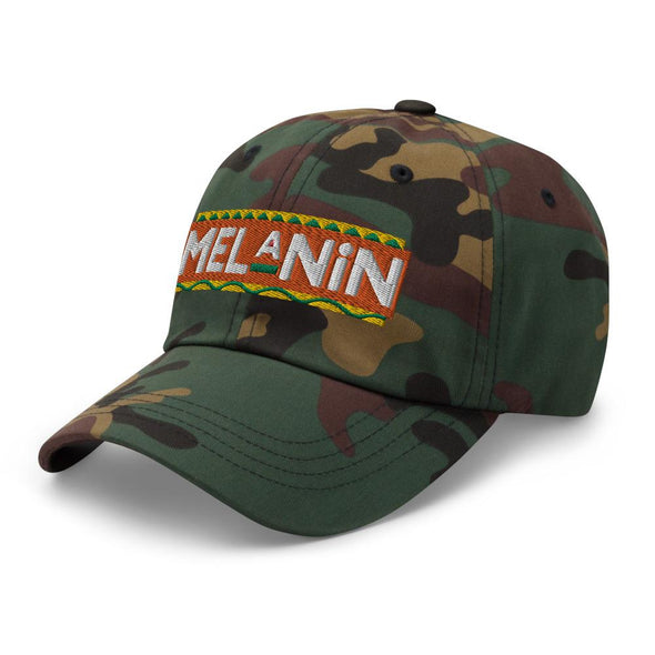 Melanin Embroidered (Gold) Dad hat - Royal Blakk