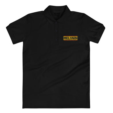 'Melanin' Embroidered Women's Polo Shirt - Royal Blakk