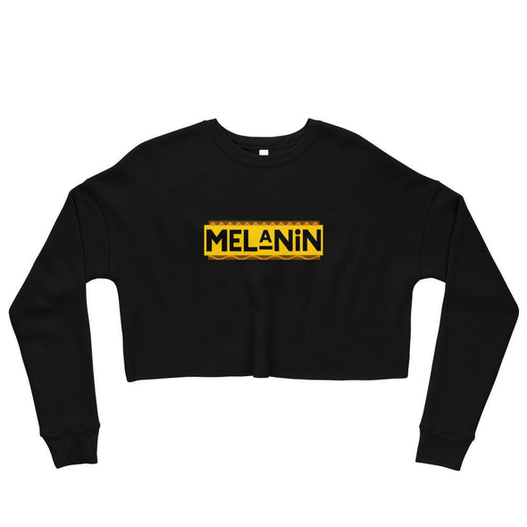 'Melanin' Women's cropped Sweatshirt - Royal Blakk