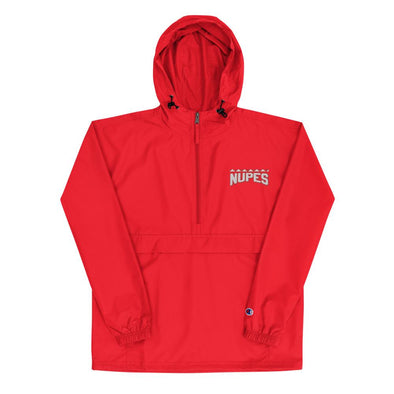 Nupes Embroidered Champion Packable Jacket - Royal Blakk