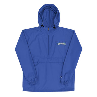 Sigmas Embroidered Champion Packable Jacket - Royal Blakk