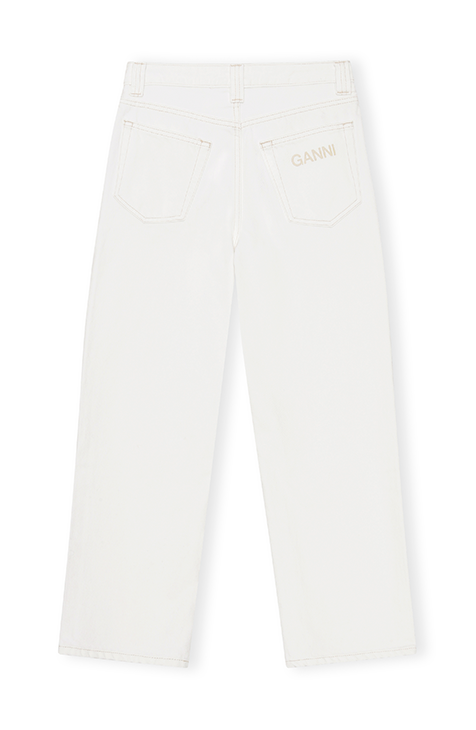Ganni - High-waisted cropped jeans