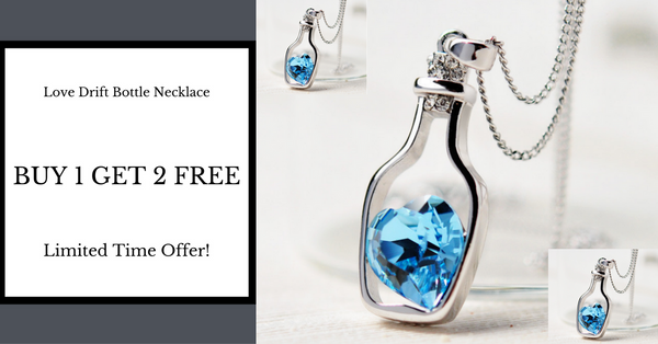 Buy 1 Get 2 Free Love Drift Bottle Necklace