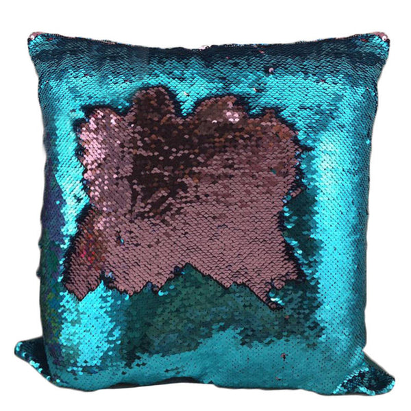 Magic Mermaid Sequin Reversible Cushion Cover 40cmX40cm Color Changing Pillow Cover