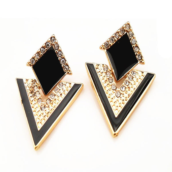 Big Black Stud Earrings - A3IM Fashions