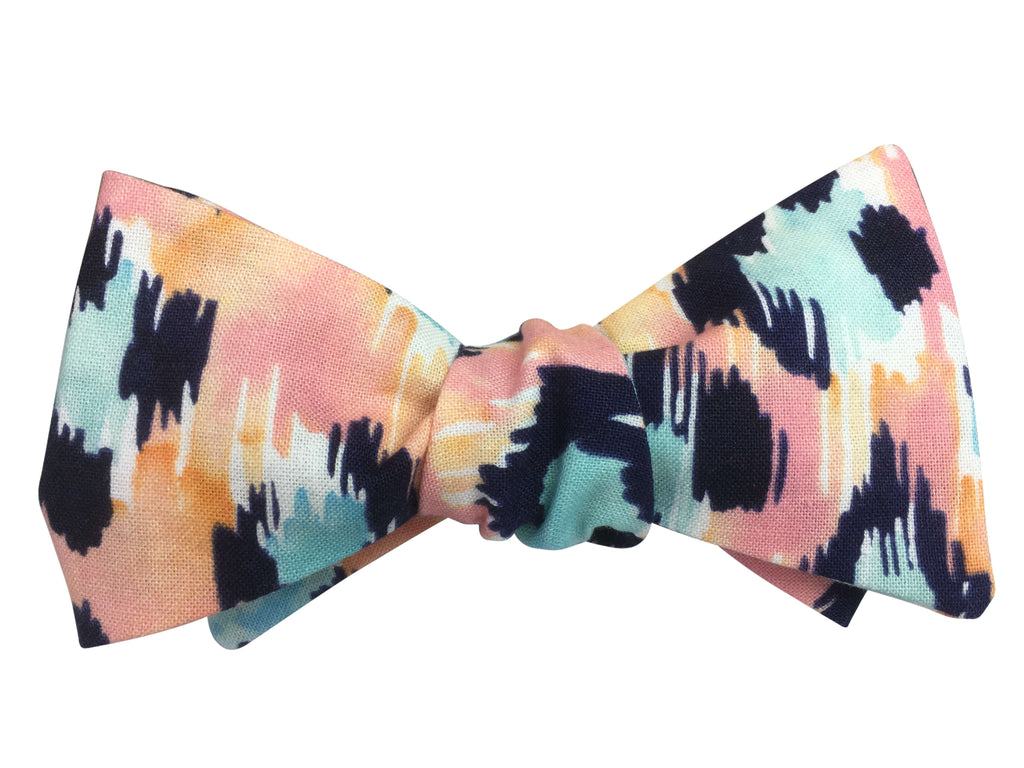 Sunset Leopard Print Bow Tie