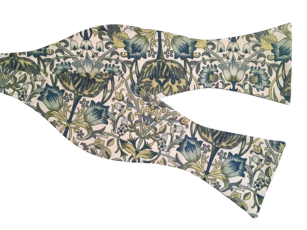 Art Nouveau Floral Self-Tie Bow Tie