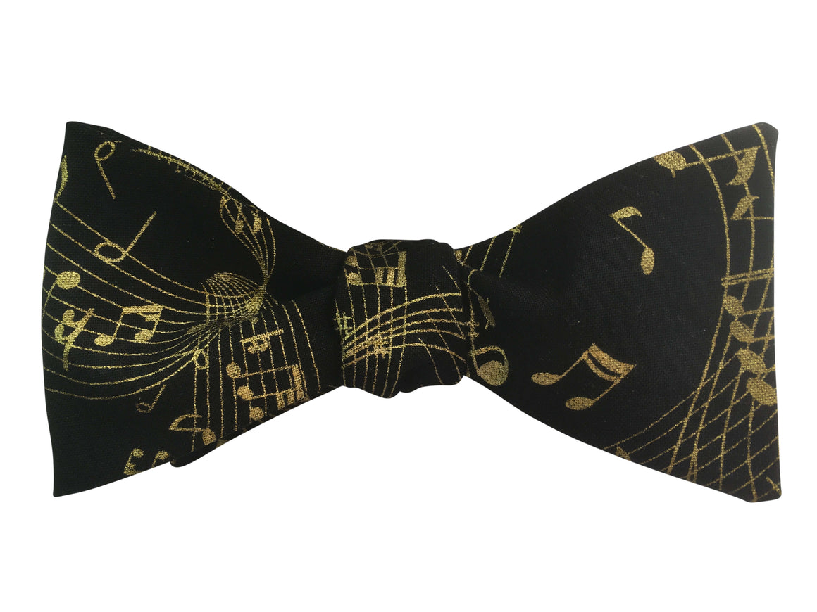 Gold Music Bow Tie