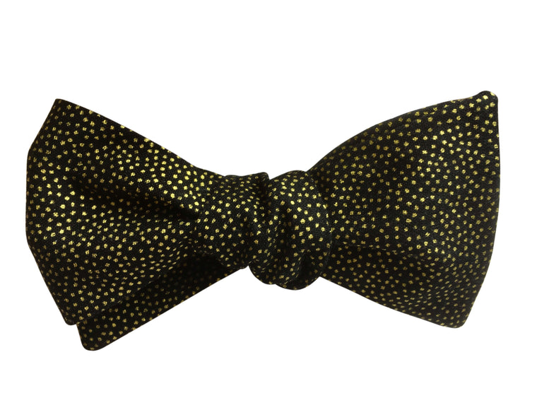 Black & Gold Bow Tie As Worn By Doctor Who 2020